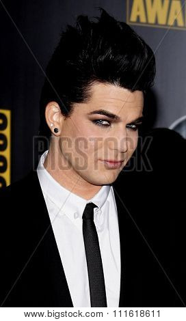 Adam Lambert at the 2009 American Music Awards at Nokia Theatre L.A. Live in Los Angeles, USA on November 22, 2009.