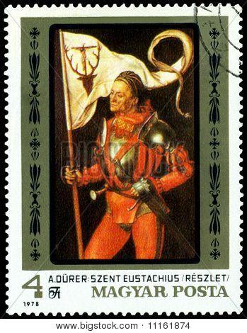 Vintage  Postage Stamp. Albrecht Durer. Saint Eustatius.