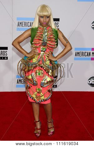 Nicki Minaj at the 2010 American Music Awards held at Nokia Theatre L.A. Live in Los Angeles, USA on November 21, 2010.