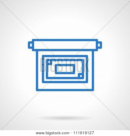 Projector screen vector icon simple line style