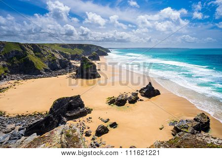 Pentire Steps Beach Cornwall