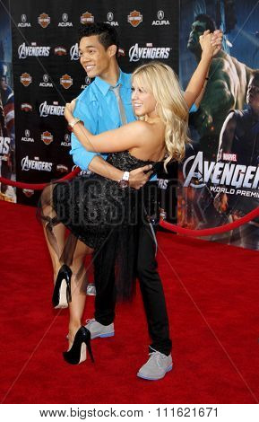 Chelsie Hightower and Roshon Fegan at the Los Angeles premiere of