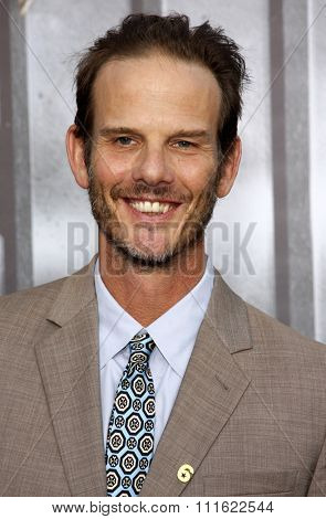 Peter Berg at the Los Angeles premiere of 'Battleship' held at the Nokia Theatre L.A. Live in Los Angeles, USA on May 10, 2012.