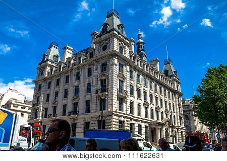 Beautiful Exterior Of  Old Buildings In Central London At Summer Day Time