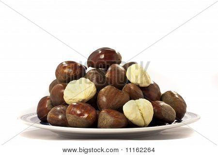 Chestnuts On A Plate