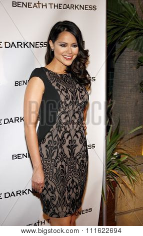 Alyssa Diaz at the Los Angeles premiere of 'Beneath The Darkness' held at the Egyptian Theatre in Hollywood, USA on January 4, 2012.