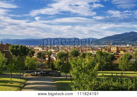 Florence View From The Garden Of Boboli