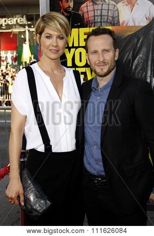 HOLLYWOOD, CALIFORNIA - June 30, 2011. Jenna Elfman and Bodhi Elfman at the Los Angeles premiere of