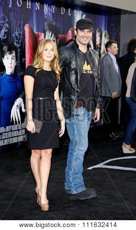 Alexa Vega and Robert Rodriguez at the Los Angeles premiere of 'Dark Shadows' held at the Grauman's Chinese Theater in Hollywood, USA on May 7, 2012.
