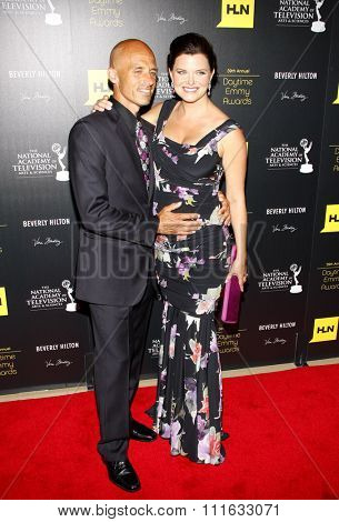 James Achor and Heather Tom at the 39th Annual Daytime Emmy Awards held at the Beverly Hilton Hotel in Beverly Hills, USA on June 23, 2012.