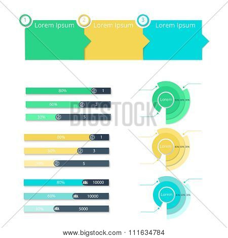 Business analytics and financial audit infographics.