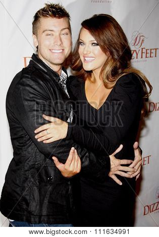 Lance Bass and Lacey Schwimmer at the Dizzy Feet Foundation's Celebration of Dance held at the Kodak Theater in Hollywood, California, United States on November 29, 2009.
