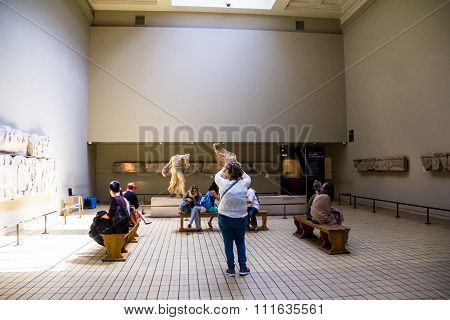 At One Of The Hall Of British Museum. London, Uk