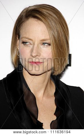 Jodie Foster at the 25th American Cinematheque Award Honoring Robert Downey Jr. held at the Beverly Hilton hotel in Beverly Hills, California, United States on October 14, 2011.