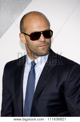 LOS ANGELES, CALIFORNIA - August 15, 2012. Jason Statham at the Los Angeles premiere of 'The Expendables 2' held at the Grauman's Chinese Theatre, Los Angeles.