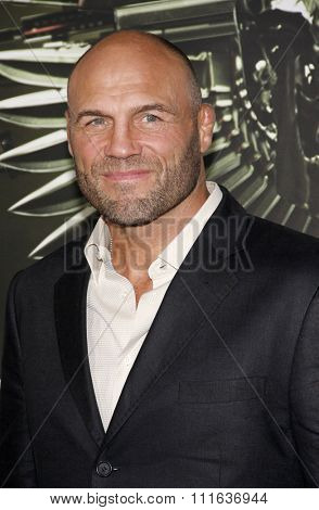 LOS ANGELES, CALIFORNIA - August 15, 2012. Randy Couture at the Los Angeles premiere of 'The Expendables 2' held at the Grauman's Chinese Theatre, Los Angeles.