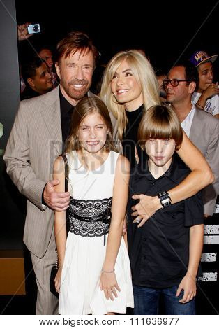 LOS ANGELES, CALIFORNIA - August 15, 2012. Chuck Norris at the Los Angeles premiere of 'The Expendables 2' held at the Grauman's Chinese Theatre, Los Angeles.