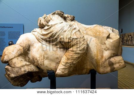Detail Of Equestrian Statue From Mausoleum At Halicarnassus