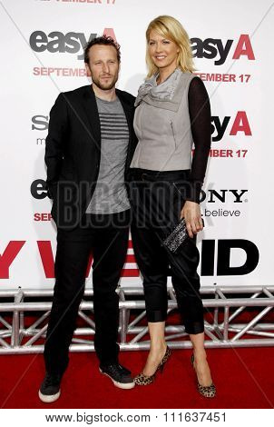 HOLLYWOOD, CALIFORNIA - September 13, 2010. Bodhi and Jenna Elfman at the Los Angeles premiere of