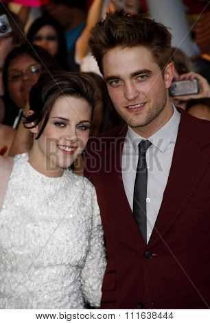 HOLLYWOOD, CALIFORNIA - June 24, 2010. Kristen Stewart and Robert Pattinson at the