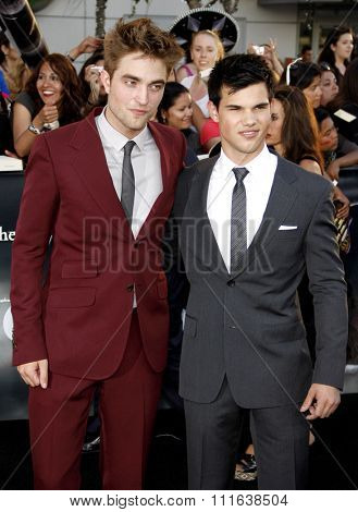 Robert Pattinson and Taylor Lautner at the