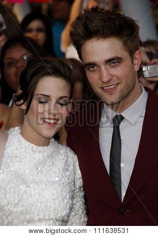Kristen Stewart and Robert Pattinson at the