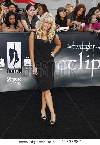 HOLLYWOOD, CALIFORNIA - June 24, 2010. Chelsie Hightower at