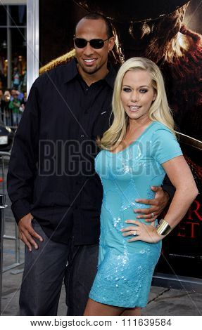 Kendra Wilkinson and Hank Baskett at the Los Angeles Premiere of