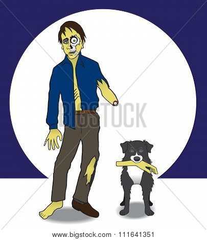 Zombie and his Dog