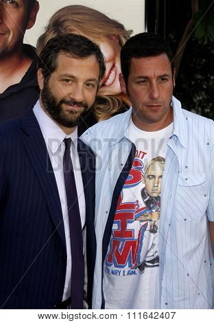 Judd Apatow and Adam Sandler at the World Premiere of