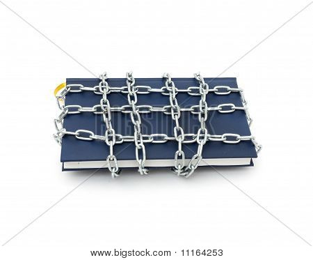 Censorship concept with book