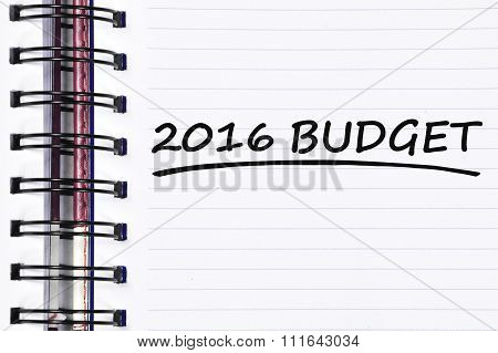 2016 Budget Words On Spring Note Book