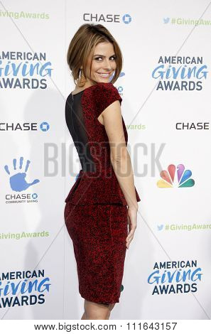 LOS ANGELES, CALIFORNIA - December 7, 2012. Maria Menounos at the 2nd Annual American Giving Awards held at the Pasadena Civic Auditorium in Los Angeles.