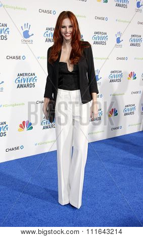 LOS ANGELES, CALIFORNIA - December 7, 2012. Alyssa Campanella at the 2nd Annual American Giving Awards held at the Pasadena Civic Auditorium in Los Angeles.