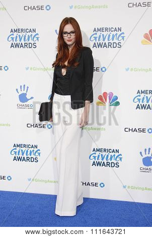 Alyssa Campanella at the 2nd Annual American Giving Awards held at the Pasadena Civic Auditorium in Los Angeles, California, United States on December 7, 2012.