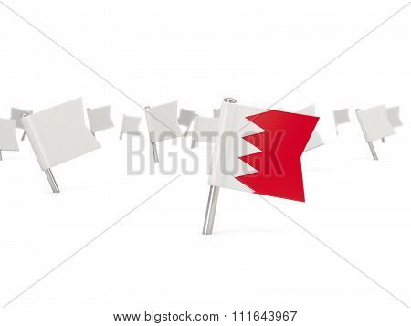 Square Pin With Flag Of Bahrain
