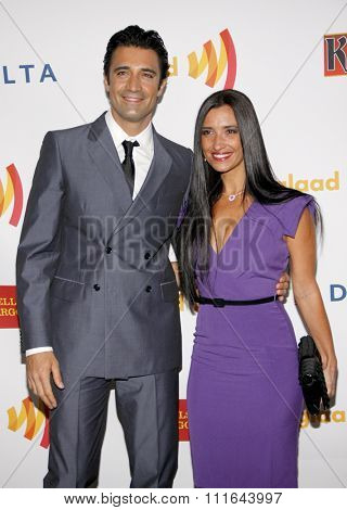 Gilles Marini and Carole Marini at the 23rd Annual GLAAD Media Awards held at the Westin Bonaventure Hotel in Los Angeles, California, United States on April 21, 2012.