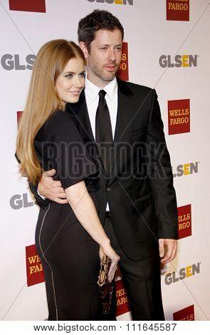 Amy Adams and Darren Le Gallo at the 8th Annual GLSEN Respect Awards held at the Beverly Hills Hotel in Los Angeles, United States on October 5, 2012.