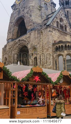 Old Church and Christmas Market