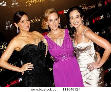 Constance Marie and Marlee Matlin at the 37th Annual Gracie Awards Gala held at the Beverly Hilton Hotel in Los Angeles, USA on May 23, 2012.
