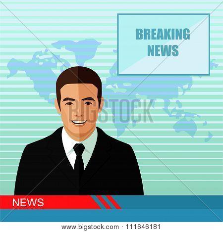 news, studio reporter,