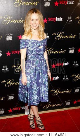 LOS ANGELES, CALIFORNIA - May 23, 2012. Sarah Paulson at the 37th Annual Gracie Awards Gala held at the Beverly Hilton Hotel, Los Angeles.