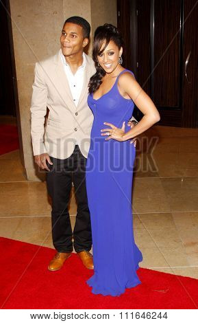 Tia Mowry and Cory Hardrict at the 37th Annual Gracie Awards Gala held at the Beverly Hilton Hotel in Los Angeles, California, United States on May 22, 2012.