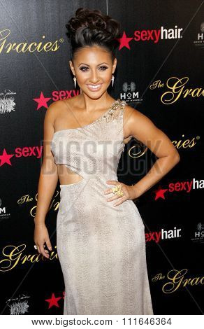 Francia Raisa at the 37th Annual Gracie Awards Gala held at the Beverly Hilton Hotel in Los Angeles, California, United States on May 23, 2012.