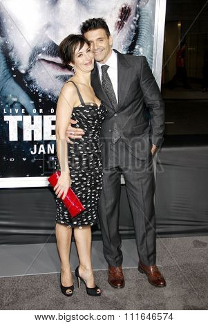 LOS ANGELES, CALIFORNIA - January 11, 2012. Frank Grillo and Wendy Moniz at the Los Angeles premiere of