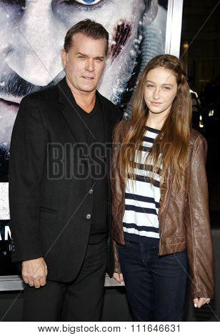 LOS ANGELES, CALIFORNIA - January 11, 2012. Ray Liotta and Karsen Liotta at the Los Angeles premiere of