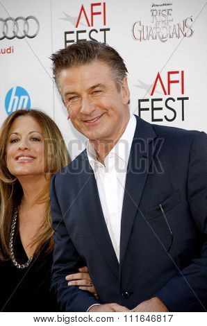 Alec Baldwin and Christina Steinberg  at the 2012 AFI Fest screening of