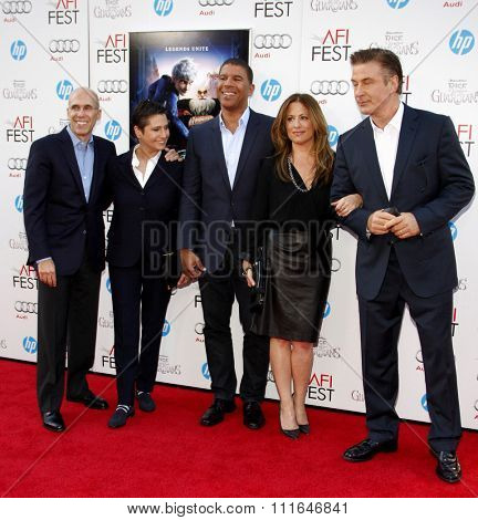 Jeffrey Katzenberg, Alec Baldwin, Peter Ramsey, Christina Steinberg and Nancy Bernstein at the 2012 AFI Fest premiere of