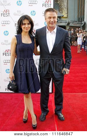 Alec Baldwin and wife Hilaria Thomas at the 2012 AFI Fest screening of