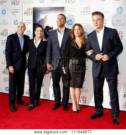 Jeffrey Katzenberg, Alec Baldwin, Peter Ramsey, Christina Steinberg and Nancy Bernstein at the 2012 AFI Fest premiere of